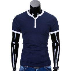 T-SHIRT MĘSKI BEZ NADRUKU S651 - GRANATOWY. Niebieskie t-shirty męskie z nadrukiem Ombre Clothing, m. Za 29,00 zł.