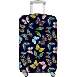 Pokrowiec na walizkę LOQI Wild. Czarne walizki LOQI, z elastanu. Za 114,00 zł.
