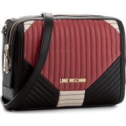 Torebka LOVE MOSCHINO - JC4032PP14LC100A  Nero/Avor/Rosso. Czarne listonoszki damskie marki Love Moschino. W wyprzedaży za 409,00 zł.