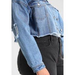 Bomberki damskie: Missguided Plus CROPPED TRUCKER Kurtka jeansowa stonewash