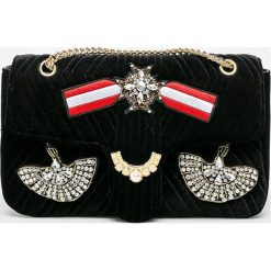 Silvian Heach - Torebka. Czarne torebki klasyczne damskie Silvian Heach, w paski, z materiału, średnie. Za 379,90 zł.
