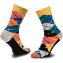 Skarpety Wysokie Unisex HAPPY SOCKS - ARY01-2003 Kolorowy. Różowe skarpetki męskie Happy Socks, w kolorowe wzory, z bawełny. Za 34,90 zł.