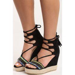 Rzymianki damskie: Czarne Sandały Pilar