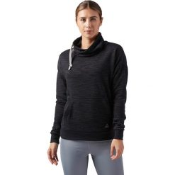 BLUZA REEBOK EL MARBLE FT COWL. Szare bluzy sportowe damskie marki Reebok, l, z dzianiny, casualowe, z okrągłym kołnierzem. Za 149,99 zł.