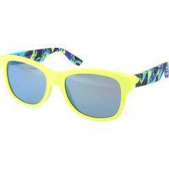 """Okulary przeciwsłoneczne damskie: Okulary przeciwsłoneczne """"0002/S XTF/QU"""" w kolorze żółto-niebieskim"""