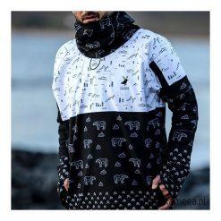 Arctic Wilderness męska bluza z apreturą. Czarne bluzy męskie rozpinane marki Pakamera, m, z dresówki, z kapturem. Za 369,00 zł.