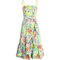 NAF NAF JUNGLE Długa sukienka offwhite/multicoloured. Białe długie sukienki marki NAF NAF, z bawełny, z długim rękawem. Za 549,00 zł.
