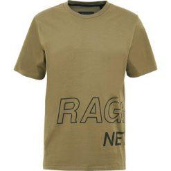 Rag & bone WRAP AROUND TEE Tshirt z nadrukiem army. Zielone t-shirty męskie z nadrukiem marki rag & bone, m, z bawełny. W wyprzedaży za 367,20 zł.