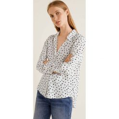 Mango - Koszula Angelica. Szare koszule wiązane damskie Mango, l, w paski, z materiału, klasyczne, z klasycznym kołnierzykiem, z długim rękawem. Za 89,90 zł.