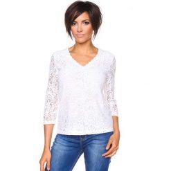 """T-shirty damskie: Koszulka """"Yvonne"""" w kolorze białym"""