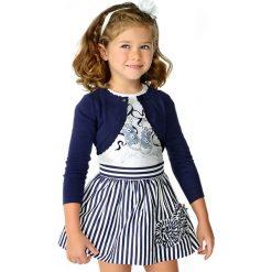 Mayoral - Komplet dziecięcy (top + spódnica) 98-134 cm. Szare bluzki dziewczęce bawełniane marki Mayoral, z nadrukiem. Za 159,90 zł.