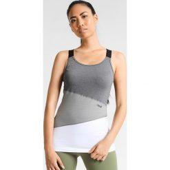 Casall ASYMMETRIC CROSSBACK Top grey melange. Szare topy sportowe damskie Casall, z elastanu. W wyprzedaży za 129,35 zł.