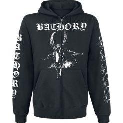 Bathory Goat Bluza z kapturem rozpinana czarny. Czarne bluzy męskie rozpinane marki Bathory, s, z nadrukiem, z kapturem. Za 199,90 zł.