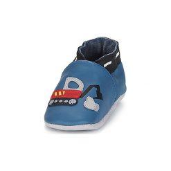 Kapcie niemowlęce Dziecko  Robeez  HANDY BOY. Niebieskie kapcie chłopięce Robeez. Za 149,00 zł.