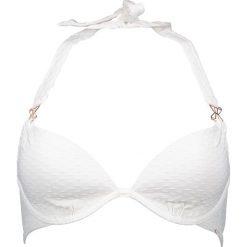 Biustonosz bikini w kolorze białym. Szare biustonosze bezszwowe marki Esprit. W wyprzedaży za 86,95 zł.