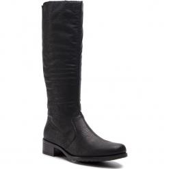 Oficerki RIEKER - Z7394-00 Schwarz. Czarne buty zimowe damskie marki Rieker, z materiału. Za 299,00 zł.