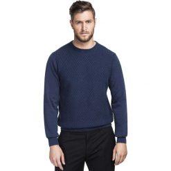 Sweter FREDERICO SWGR000186. Szare swetry klasyczne męskie Giacomo Conti, na jesień, m, z bawełny. Za 219,00 zł.