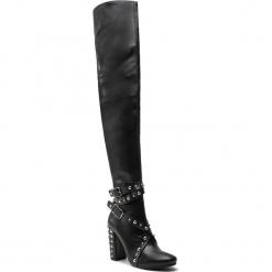 Muszkieterki KAZAR - Evelyn 33666-07-00 Black. Czarne buty zimowe damskie Kazar, ze skóry, przed kolano, na wysokim obcasie, na obcasie. Za 1099,00 zł.