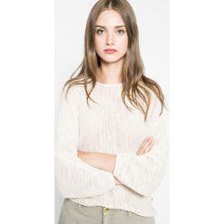 Wrangler - Sweter. Szare swetry klasyczne damskie marki Wrangler, na co dzień, m, z nadrukiem, casualowe, z okrągłym kołnierzem, mini, proste. W wyprzedaży za 99,90 zł.