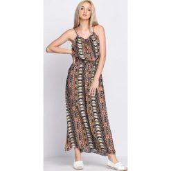 Sukienki: Brązowo-Pomarańczowa Sukienka Velvet Morning