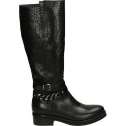Kozaki - 3307 V-C NERO. Czarne buty zimowe damskie marki Venezia, ze skóry. Za 319,00 zł.