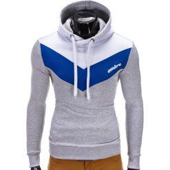BLUZA MĘSKA Z KAPTUREM ARTURO - SZARA. Szare bluzy męskie rozpinane marki Ombre Clothing, m, z bawełny, z kapturem. Za 79,00 zł.