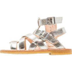 ANGULUS Sandały champagne. Szare sandały chłopięce ANGULUS, z materiału, z otwartym noskiem. W wyprzedaży za 143,70 zł.