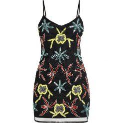 Sukienki hiszpanki: Missguided Petite STRAPPY MESH OVERLAY CAMI DRESS Sukienka koktajlowa black
