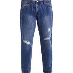 Lost Ink Plus BOYFRIEND IN YLANG YLANG Jeansy Slim Fit mid denim. Niebieskie jeansy damskie Lost Ink Plus. W wyprzedaży za 139,30 zł.