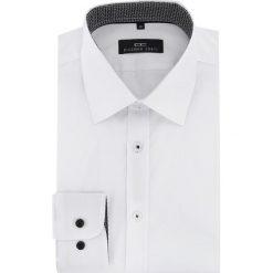 Koszula TIMOTEO 15-11-10-K. Białe koszule męskie na spinki Giacomo Conti, m, w geometryczne wzory, z tkaniny, z klasycznym kołnierzykiem, z długim rękawem. Za 169,00 zł.