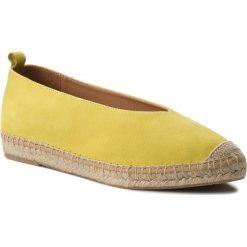 Espadryle KANNA - KV8039 Ante Amarillo. Żółte tomsy damskie Kanna, ze skóry, na płaskiej podeszwie. W wyprzedaży za 199,00 zł.