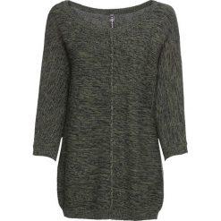 """Swetry damskie: Sweter dzianinowy z rękawami """"nietoperz"""" bonprix oliwkowy"""