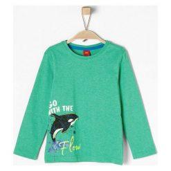 S.Oliver T-Shirt Chłopięcy 92 - 98 Zielony. Zielone t-shirty chłopięce z długim rękawem S.Oliver, z nadrukiem. Za 39,00 zł.