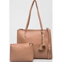 Answear - Torebka. Szare torebki klasyczne damskie marki ANSWEAR, z materiału, średnie. W wyprzedaży za 119,90 zł.