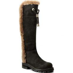 Kozaki TWINSET - Stivale CA7TAN  Nero/Deep 01651. Czarne buty zimowe damskie marki Kazar, ze skóry, na wysokim obcasie. W wyprzedaży za 989,00 zł.