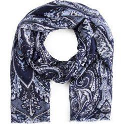 Szal męski SZW0002205. Niebieskie szaliki męskie Giacomo Conti, na zimę, z tkaniny. Za 139,00 zł.
