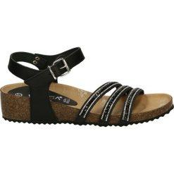 Rzymianki damskie: Sandały - 2855 PEL NERO