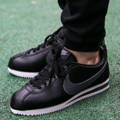 """Buty Nike Classic Cortez Leather """"Dark Grey"""" (749571-011). Szare halówki męskie Nike, z materiału. Za 299,99 zł."""