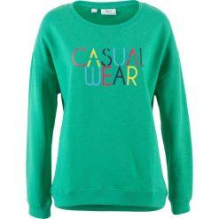Bluza z nadrukiem bonprix szmaragdowy z nadrukiem. Zielone bluzy rozpinane damskie bonprix, z nadrukiem. Za 32,99 zł.