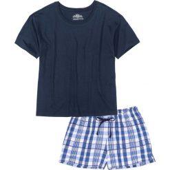 Piżamy damskie: Piżama z krótkimi spodenkami bonprix ciemnoniebieski wzorzysty