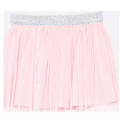 Blukids - Spódnica dziecięca 98-128 cm. Szare spódniczki dziewczęce Blukids, z bawełny, mini. W wyprzedaży za 49,90 zł.