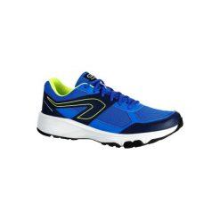 Buty do biegania RUN CUSHION GRIP męskie. Niebieskie buty skate męskie marki DOMYOS, z materiału, małe. W wyprzedaży za 69,99 zł.