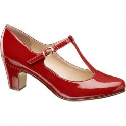 Czółenka damskie Graceland czerwone. Czerwone buty ślubne damskie Graceland, z lakierowanej skóry, na obcasie. Za 89,90 zł.