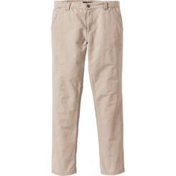 Spodnie chino Regular Fit bonprix beżowo-szary. Brązowe chinosy męskie bonprix. Za 99,99 zł.