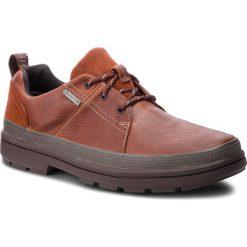 Półbuty CLARKS - Rushway Lace Gtx GORE-TEX 261355567 British Tan Leather. Brązowe półbuty skórzane męskie marki Clarks. W wyprzedaży za 409,00 zł.