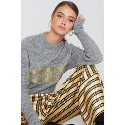 Swetry klasyczne damskie: Samsoe & Samsoe Sweter Morgan – Grey