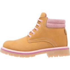 Buty zimowe damskie: fullstop. Botki sznurowane ochre/pink