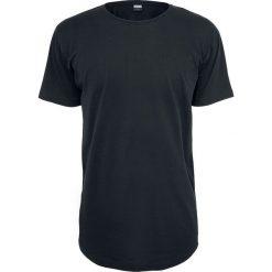 Urban Classics Shaped Long Tee T-Shirt czarny. Niebieskie t-shirty męskie z nadrukiem marki Urban Classics, l, z okrągłym kołnierzem. Za 54,90 zł.