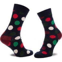 Skarpety Wysokie Unisex HAPPY SOCKS - BDO01-6004 Granatowy Kolorowy. Niebieskie skarpetki męskie Happy Socks, w kolorowe wzory, z bawełny. Za 34,90 zł.