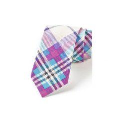 Krawat męski CALPE. Brązowe krawaty męskie HisOutfit, z materiału. Za 129,00 zł.